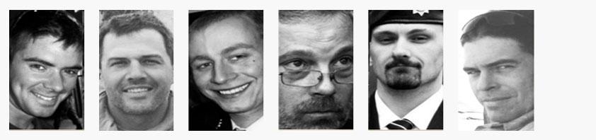 Dan Scott, Gavin Flett, Brad Quast, Mark Campbell, Kevin Berry and Aaron Bedard